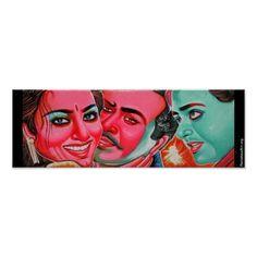 Rickshaw art small poster (on zazzle.fr/RickshawArt* ) $9.85