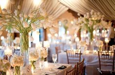 white tulip centerpieces.....love the sway!