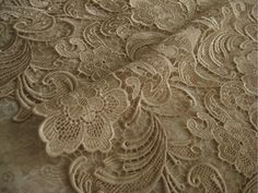 Lace Fabric Champagne Crocheted