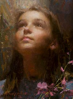 Morgan Weistling - Joy - SMALLWORK CANVAS EDITION from the Greenwich Workshop Fine Art Gallery featuring fine art prints, canvases, books, porcelains and gift ideas. Art Gallery, Art Painting, Figure Painting, Painter, Portraiture, Morgan Weistling, Beautiful Paintings, Portrait Painting, Portrait Art
