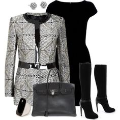 Grey/black pre-winter, created by martina-hel on Polyvore