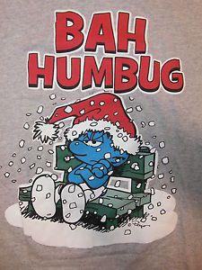 SMURFS BAH HUMBUG T SHIRT A Christmas Carol GROUCHY SMURF Ebenezer Scrooge MED Christmas Rock, Christmas Carol, Cartoon Pics, Cartoon Characters, Vintage Holiday, Holiday Fun, Smurf Village, Tinkerbell And Friends, Ebenezer Scrooge