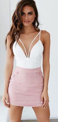 #summer #tigermist #outfits   White + Pink