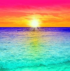 Colorful sunset Sunset Wallpaper, Nature Wallpaper, Wallpaper Backgrounds, Beach Pictures, Pretty Pictures, Beautiful Sunset, Beautiful Beaches, Sunset Colors, Amazing Nature