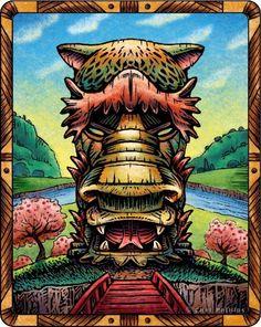 Dragon Tiki on Etsy, $18.00