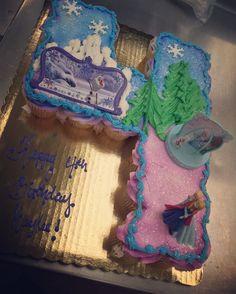 Frozen cupcake cake