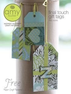 Final Touch gift tags - by Amy Butler - free printable template