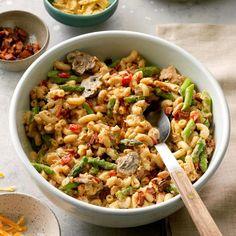 Asparagus Tuna Noodle Casserole Tuna Casserole, Noodle Casserole, Casserole Recipes, Creamed Asparagus, Fresh Asparagus, Slow Cooker Recipes, Cooking Recipes, Slow Cooking, Canned Tuna Recipes