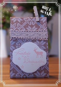 Weihnachtsgeschenk Stampin Up, Cover, Books, How To Make, Art, Christmas Presents, Art Background, Libros, Book