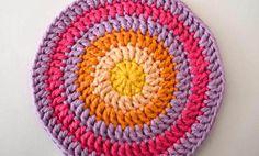 crochet circle mandala round six