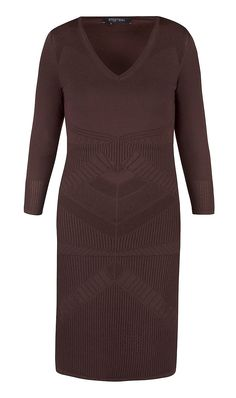 """POINTELLE"" brown sweater dress 