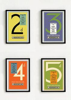Londoner U-Bahn-Plakat Weinlese - A3 Größen von Hassö Studio  auf DaWanda.com