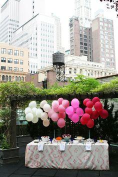 Ombré balloons