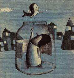 Nat Kowski: Enfrascado Illustration Art, Illustrations, Decorative Bells, Tapas, Fantasy Art, Whimsical, Sculptures, Character Design, 1
