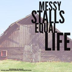 God even speaks through poo! Growing in Grace: Messy Stalls Equal Life #growingingrace #trcwomen