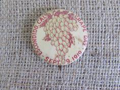 Antique Escondido California Grape Day Pin September 19, 1919, Vintage Escondido California Grap Day Pin, Vintage Pins, Old Pin, Memorabilia by OpenTwentyFourSeven on Etsy