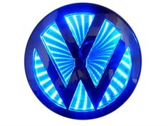 LED Illumination Badge (Volkswagen-Blue) by Race Sport