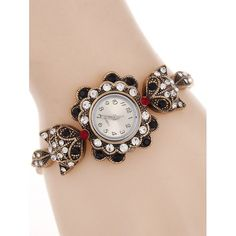 Vintage Alloy Rhinestone Fox Bracelet Watch #>=#>=#>=#>=#> Click on the pin to check out discount price, color, size, shipping, etc. Save and like it!