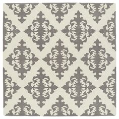 Shop for Runway Light Brown/Ivory Damask Hand-Tufted Wool Rug (3'9 x 3'9 Square). Get free shipping at Overstock.com - Your Online Home Decor Outlet Store! Get 5% in rewards with Club O!