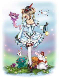 Art Work of Alice in Wonderland  <3 <3