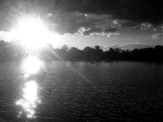 Remando bajo el sol en el Parque del Retiro