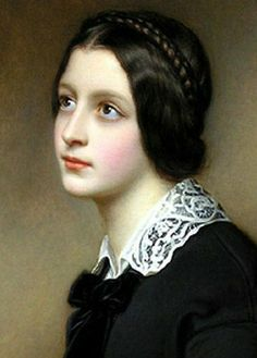 """Maria Dietsch,"" 1850 [detail] -- by Joseph Karl Stieler Female Portrait, Portrait Art, Female Art, Classic Paintings, Beautiful Paintings, Victorian Makeup, Art Du Monde, Old Portraits, Classical Art"