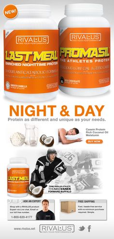 Introducing LAST MEAL - Our Casein Protein Casein Protein, Coconut Protein, Day For Night, Night Time, Meal, Products