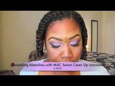 Flat Twist Out & Violet Makeup Look (Part 2)