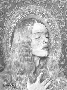 """""""Solitude"""" 16x20, graphite pencil Joseph Bellofatto (c)2017 #art #artist #finearts  #drawing #preraphaelites #pencildrawing #portrait #myart"""