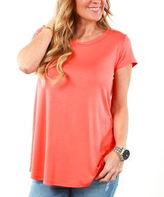 Coral Short-Sleeve Tunic