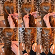Although it looks complicated, this hairstyle is actually very easy to achieve!