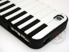 Piano Rubber SILICONE Skin Soft Gel Case Cover for Apple iPhone 4 4S - USD $ 15.55