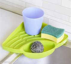 Soap Dishes Sink tray Wash Basin Storage Organizer Plastic Multipurpose Sponge Detergent Soap liquid storgae Material: Plastic Pack: Pack of 1 Product Length: 10 cm Product Breadth: 20 cm Product Height: 10 cm Country of Origin: India Sizes Available: Free Size   Catalog Rating: ★3.9 (4693)  Catalog Name: Classy Soap Dishes CatalogID_1303292 C132-SC1585 Code: 641-7924642-992