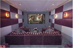Diane Keaton Pacific Palisades Home-Home Theatre