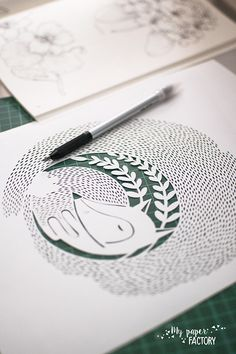 paper cut fox: work in progress