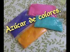 Como pintar azucar de colores y pegamento para paletas :) - YouTube