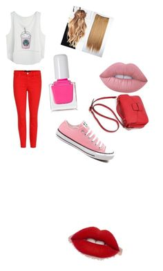 """b"" by maria-paula-paez on Polyvore featuring J Brand, Converse, Lime Crime and tenoverten"