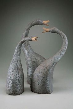 Pottery Animals, Ceramic Animals, Ceramic Birds, Ceramic Art, Porcelain Ceramic, Ceramic Mugs, Pottery Sculpture, Bird Sculpture, Animal Sculptures