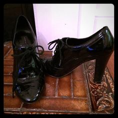 Black patent leather Stevens size 7 Adorable vintage look, black patent leather, Steven by Steve Madden. 4in heel. Worn, but good condition. Steven by Steve Madden Shoes Heels