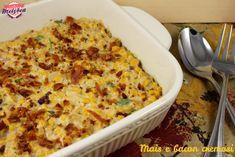 Corn and bacon casserole - Mais e bacon cremosi #Thanksgiving #Recipe #Ringraziamento