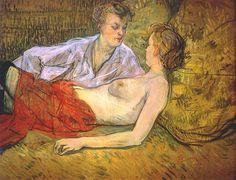 Lautrec the two girlfriends c1894-5 - Henri de Toulouse-Lautrec