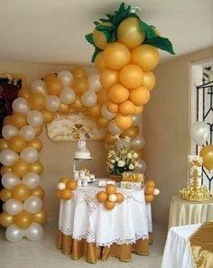 Risultati immagini per decoracion para primera comunion Ballon Arch, Deco Ballon, Balloon Ceiling, Ceiling Decor, Première Communion, First Communion, Balloon Arrangements, Balloon Decorations, Balloon Ideas