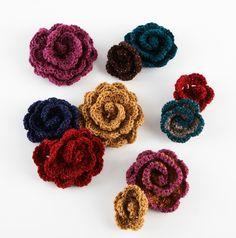 Crocheted Flowers Pattern