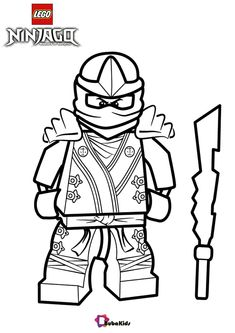 Awesome and cool Lego Ninjago Kai KX Coloring Page Free Printable Coloring Pages