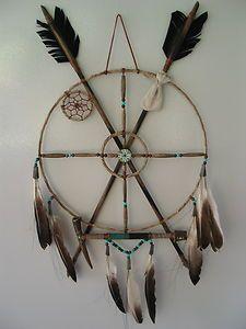 Native American 11 inch Peace Pipe Medicine Wheel Mandella