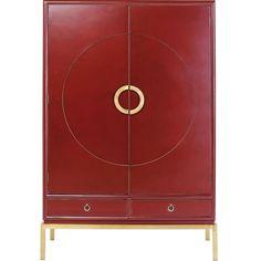 Kare Design Disk Red Kledingkast - 120x55x180 - Rood