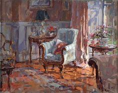 ◇ Artful Interiors ◇ paintings of beautiful rooms - Susan Ryder