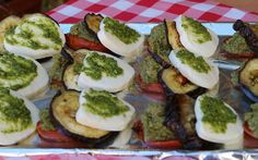 Amaranth, Eggplant and Tomato with Pesto and Mozzarella Stack Recipe | You might have seen this ancient grain in baked goods, but mixing amaranth with pesto to make this delightful eggplant stack is just perfection!