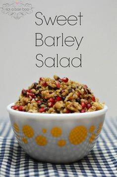 Sweet Barley Salad. This sweet barley salad is the perfect autumn inspired side to your turkey dinner.