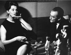 Luchino Visconti and Sophia Loren